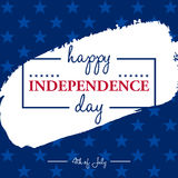 Happy 4th of July - Independence Day card or background. Stock Photography
