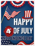 Happy 4th OF JULY INDEPENDENCE DAY Royalty Free Stock Photography