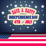 Happy 4th July independence day. With fireworks Royalty Free Stock Photo