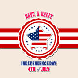 Happy 4th July independence day Stock Image