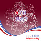 Happy 4th July independence day  with fireworks bacground Stock Photography