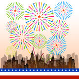 Happy 4th July independence day  with fireworks bacground. Happy 4th July independence day with fireworks Stock Photography