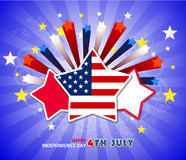 Happy 4th July independence day  with fireworks bacground. Happy 4th July independence day with fireworks Royalty Free Stock Photo