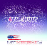 Happy 4th July independence day  with fireworks bacground Royalty Free Stock Images