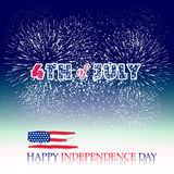 Happy 4th July independence day with fireworks bacground. Happy 4th July independence day with fireworks vector illustration