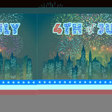Happy 4th July independence day with fireworks background Royalty Free Stock Images