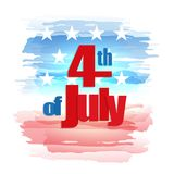 Fourth of July, Independence Day. Happy 4th of July, Independence Day greeting card. Happy July Fourth. Vector Stock Photo