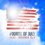 Happy 4th of July Independence Day. Shining American national flag. Vector abstract grunge background with place for text Stock Image