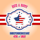 Happy 4th July independence day with star and usa flag. Happy 4th July independence day with fireworks stock illustration