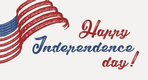 Happy 4th of July - Independence Day of United States of America. Greeting card design vector illustration stock illustration