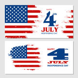 Happy 4th of July - Independence Day of United States of America. Greeting card design vector illustration Royalty Free Stock Photo
