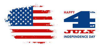 Happy 4th of July - Independence Day of United States of America. Greeting card design vector illustration Stock Image