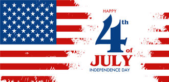 Happy 4th of July - Independence Day of United States of America Stock Photography