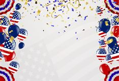 Happy 4th of July Independence Day USA blue background with the. United States flag. 4th of July USA independence day Royalty Free Stock Photo