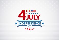 Happy 4th of July Independence Day USA sale banner or logo with. American flag - vector illustration for 4th of July event celebration royalty free illustration