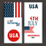 Happy 4th of July - Independence Day Vector Design Royalty Free Stock Photos