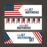 Happy 4th of July - Independence Day Vector Design Royalty Free Stock Images