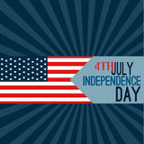 Happy 4th of July - Independence Day Vector Design Stock Images