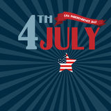 Happy 4th of July - Independence Day Vector Design Royalty Free Stock Photography
