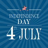 Happy 4th of July - Independence Day Vector Design Stock Photography