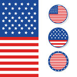 Happy 4th of July - Independence Day Vector Design Stock Photos