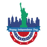 Happy 4th of July, Independence Day Vector Design, usa. Illustration Royalty Free Stock Images