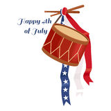 Happy 4th of July, Independence Day Vector Design, usa. Illustration Royalty Free Stock Image