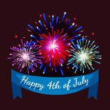 Happy 4th of July, Independence Day Vector Design, usa. Illustration Stock Image