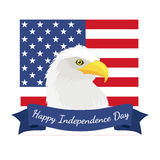 Happy 4th of July, Independence Day Vector Design, usa Royalty Free Stock Photo