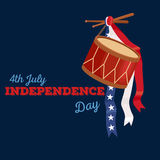 Happy 4th of July, Independence Day Vector Design, usa. Illustration Stock Photos