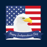 Happy 4th of July, Independence Day Vector Design, usa. Illustration Royalty Free Stock Photography