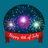 Happy 4th of July, Independence Day Vector Design, usa. Illustration Stock Photo