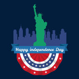 Happy 4th of July, Independence Day Vector Design, usa Royalty Free Stock Photography