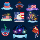 Happy 4th of July, Independence Day Vector Design, usa. Illustration Royalty Free Stock Photo