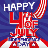 Happy 4th of July - Independence Day. Vector illustration. Happy 4th of July - Independence Day Royalty Free Stock Photo