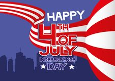 Happy 4th of July - Independence Day. Vector illustration. Happy 4th of July - Independence Day royalty free illustration