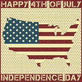 Happy 4th of July. Independence Day. Vector illustration Stock Photography