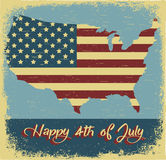 Happy 4th of July. Independence Day. Vector illustration Stock Images