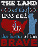 Happy 4th of July Royalty Free Stock Photography