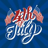 Happy 4th of July - Independence Day. Vector illustration Stock Photography