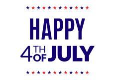 Happy 4th of July poster. National holiday greeting card Stock Illustration