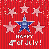 Happy 4th of  July Red stars background Royalty Free Stock Photo