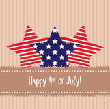 Happy 4th of July sticker cards.  vector illustration
