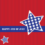 Happy 4th of July stripes Background Royalty Free Stock Photos