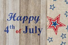 Happy 4th of July greeting royalty free stock photos