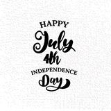 Happy 4th of July. The trend calligraphy. Excellent gift card to the day of Independence. American flag. Vector illustration on white background royalty free illustration