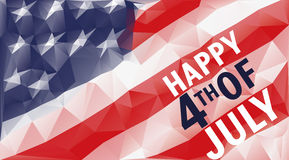 Happy 4th of july triangle background. Illustration Stock Photography