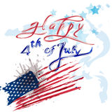 Happy 4th July Stock Images