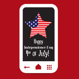 Happy 4th of July, USA Independence Day.  stock illustration