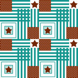Happy 4th of July, USA Independence Day background. Seamless flag pattern, stars and stripes royalty free illustration
